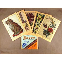 Cartes postales Tapisserie petit point