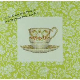 Tasse à thé avec bordure