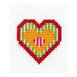 Coeur aux rayures