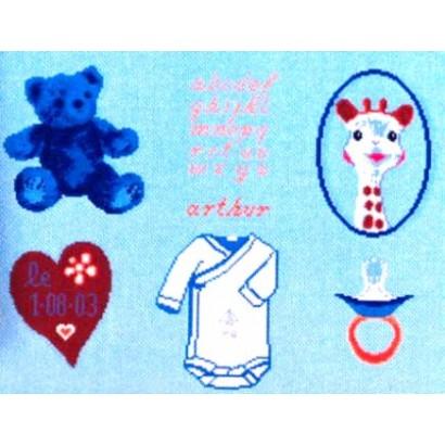 Patch naissance bleu