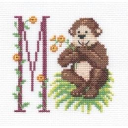 Points de croix broder pour les enfants avec des ab c daires disney animaux - Petit singe rigolo ...