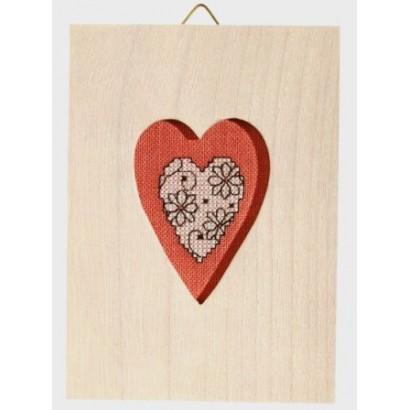 Le coeur blanc + cadre