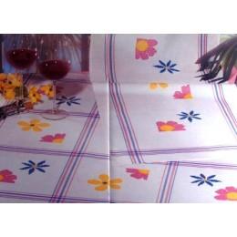 Chemin de table rayures bleues et roses