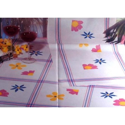 Nappe rayures roses et bleues