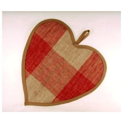 Coeur carreaux rouges