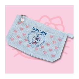 Pochette bleue Hello Kitty