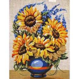 Le vase bleu aux soleils