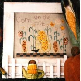 Corn in a garden