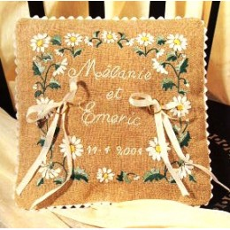 Coussin mariage Paquerettes