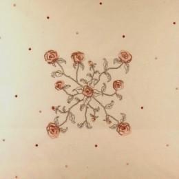 Nappe roses & plumetis
