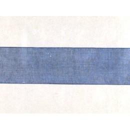 Ruban organdi bleu marine