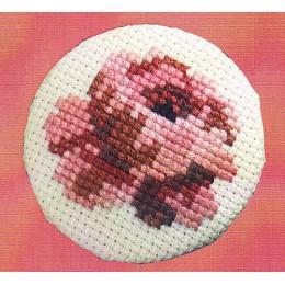 Badge blanc Rose