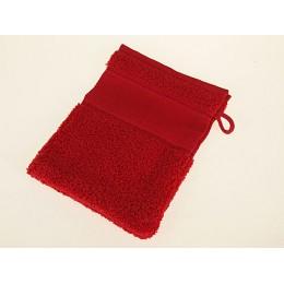 Gant de toilette rouge