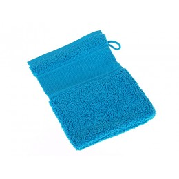 Gant de toilette bleu