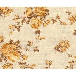 Tissu Roses anciennes jaune 5064Y