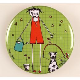 Badge Filf et son chien